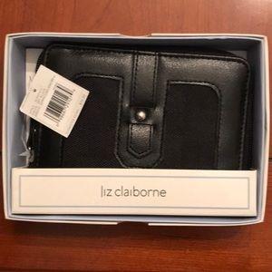 NWT black Liz Claiborne women's wallet.